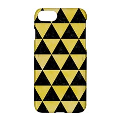 Triangle3 Black Marble & Yellow Watercolor Apple Iphone 8 Hardshell Case