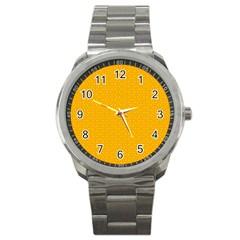 Texture Background Pattern Sport Metal Watch