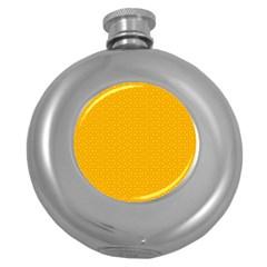 Texture Background Pattern Round Hip Flask (5 Oz)