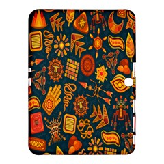 Tribal Ethnic Blue Gold Culture Samsung Galaxy Tab 4 (10 1 ) Hardshell Case