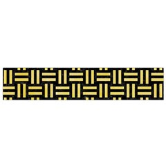 Woven1 Black Marble & Yellow Watercolor (r) Small Flano Scarf