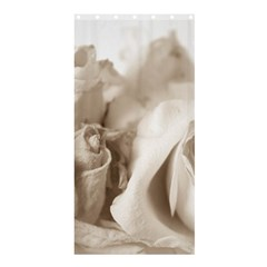 Vintage Rose Shabby Chic Background Shower Curtain 36  X 72  (stall)