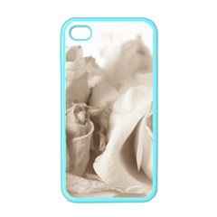 Vintage Rose Shabby Chic Background Apple Iphone 4 Case (color)