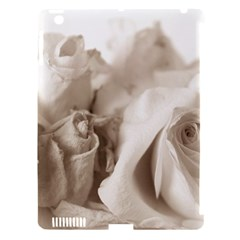 Vintage Rose Shabby Chic Background Apple Ipad 3/4 Hardshell Case (compatible With Smart Cover)
