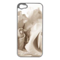 Vintage Rose Shabby Chic Background Apple Iphone 5 Case (silver)