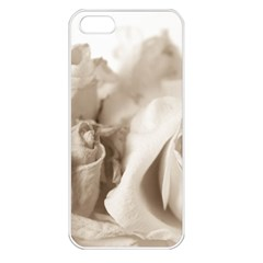 Vintage Rose Shabby Chic Background Apple Iphone 5 Seamless Case (white)