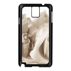 Vintage Rose Shabby Chic Background Samsung Galaxy Note 3 N9005 Case (black)
