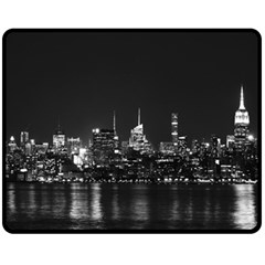 New York Skyline Double Sided Fleece Blanket (medium)