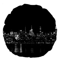 New York Skyline Large 18  Premium Flano Round Cushions