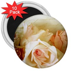Roses Vintage Playful Romantic 3  Magnets (10 Pack)