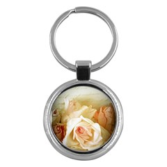 Roses Vintage Playful Romantic Key Chains (round)