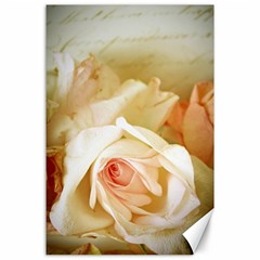 Roses Vintage Playful Romantic Canvas 24  X 36