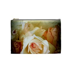 Roses Vintage Playful Romantic Cosmetic Bag (medium)