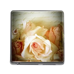 Roses Vintage Playful Romantic Memory Card Reader (square)