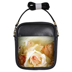 Roses Vintage Playful Romantic Girls Sling Bags