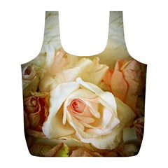 Roses Vintage Playful Romantic Full Print Recycle Bags (l)