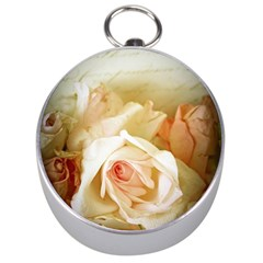 Roses Vintage Playful Romantic Silver Compasses