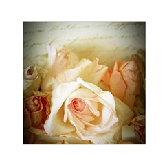 Roses Vintage Playful Romantic Small Satin Scarf (square)