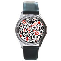 Square Objects Future Modern Round Metal Watch