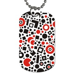 Square Objects Future Modern Dog Tag (one Side)