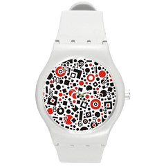 Square Objects Future Modern Round Plastic Sport Watch (m)