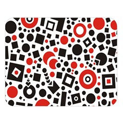 Square Objects Future Modern Double Sided Flano Blanket (large)