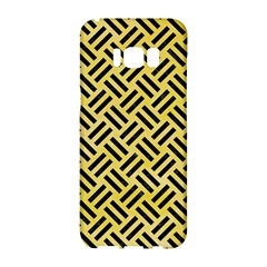Woven2 Black Marble & Yellow Watercolor Samsung Galaxy S8 Hardshell Case