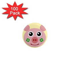 Luck Lucky Pig Pig Lucky Charm 1  Mini Magnets (100 Pack)