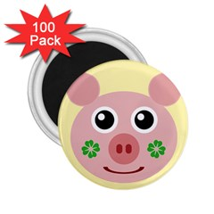 Luck Lucky Pig Pig Lucky Charm 2 25  Magnets (100 Pack)