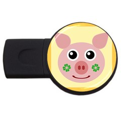 Luck Lucky Pig Pig Lucky Charm Usb Flash Drive Round (2 Gb)