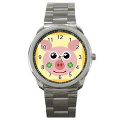 Luck Lucky Pig Pig Lucky Charm Sport Metal Watch