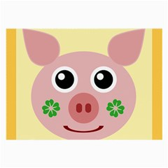 Luck Lucky Pig Pig Lucky Charm Large Glasses Cloth