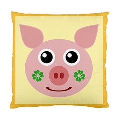 Luck Lucky Pig Pig Lucky Charm Standard Cushion Case (one Side)