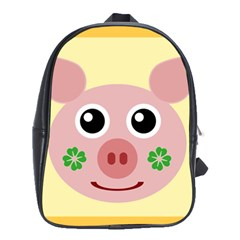 Luck Lucky Pig Pig Lucky Charm School Bag (large)