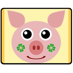 Luck Lucky Pig Pig Lucky Charm Fleece Blanket (medium)