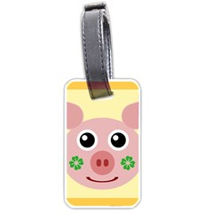 Luck Lucky Pig Pig Lucky Charm Luggage Tags (two Sides)