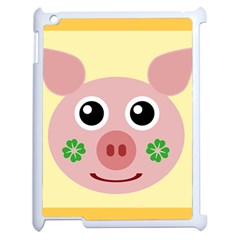Luck Lucky Pig Pig Lucky Charm Apple Ipad 2 Case (white)