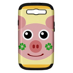 Luck Lucky Pig Pig Lucky Charm Samsung Galaxy S Iii Hardshell Case (pc+silicone)