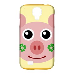 Luck Lucky Pig Pig Lucky Charm Samsung Galaxy S4 Classic Hardshell Case (pc+silicone)
