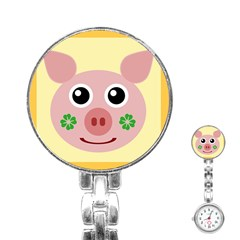 Luck Lucky Pig Pig Lucky Charm Stainless Steel Nurses Watch