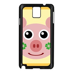Luck Lucky Pig Pig Lucky Charm Samsung Galaxy Note 3 N9005 Case (black)