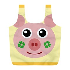 Luck Lucky Pig Pig Lucky Charm Full Print Recycle Bags (l)