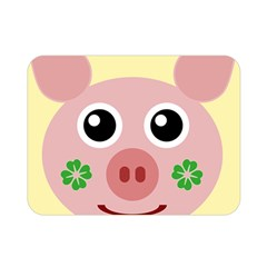 Luck Lucky Pig Pig Lucky Charm Double Sided Flano Blanket (mini)