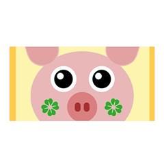 Luck Lucky Pig Pig Lucky Charm Satin Wrap