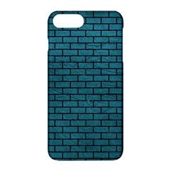 Brick1 Black Marble & Teal Leather Apple Iphone 8 Plus Hardshell Case