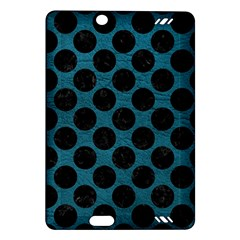 Circles2 Black Marble & Teal Leather Amazon Kindle Fire Hd (2013) Hardshell Case