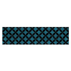 Circles3 Black Marble & Teal Leather Satin Scarf (oblong)