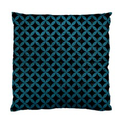 Circles3 Black Marble & Teal Leather (r) Standard Cushion Case (one Side)