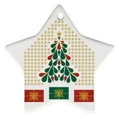 Christmas Tree Present House Star Ornament (star)