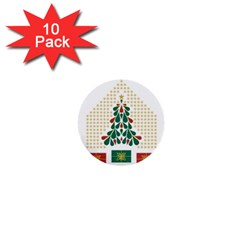 Christmas Tree Present House Star 1  Mini Buttons (10 Pack)